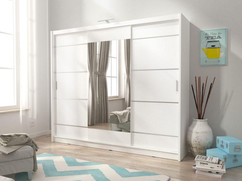 Szafa AWENA PLUS 250cm,garderoba,lustro,sypialnia,przedpokój 4 kolory! zdjęcie 7