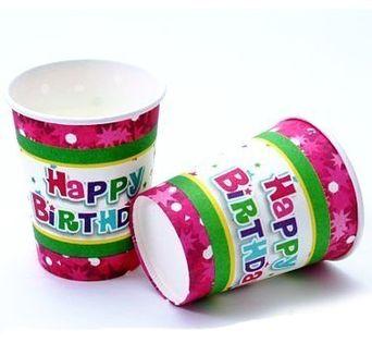 Kubeczki urodzinowe Happy Birthday Urodziny 6szt