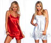 Zmysłowa satynowa piżama damska kalimo l 40