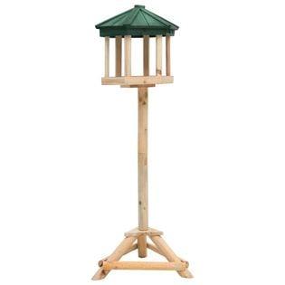 Stojący karmnik dla ptaków, lite drewno jodłowe, 33x106 cm