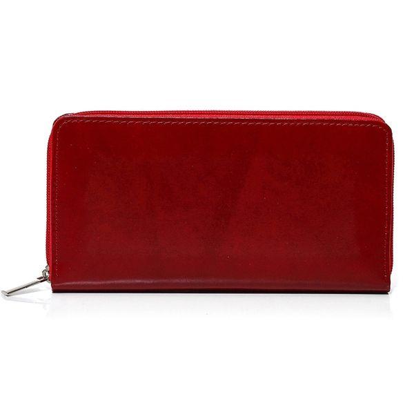 Czerwony damski portfel skóra naturalna BELVEDER w pudełku zdjęcie 4