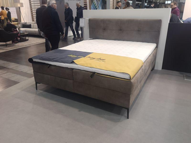 Łóżko tapicerowane BONO 160x200 Stelaż zdjęcie 2
