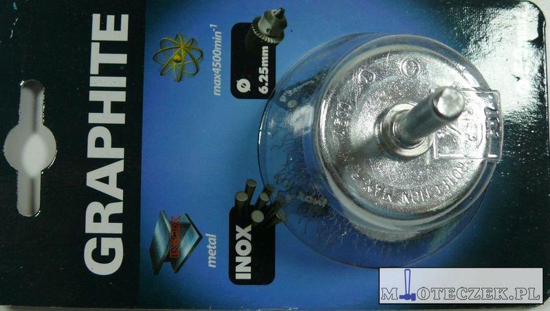 Szczotka doczołowa druciana trzpień 50mm zdjęcie 6