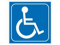 Naklejka INWALIDA znak niepełnosprawni 7x7cm