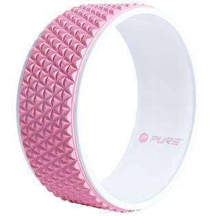 Pure2Improve Koło Do Jogi, 34 Cm, Różowo-Białe