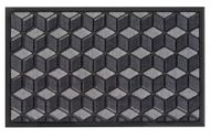 Wycieraczka BLOCK 75x46 cm polipropylen szara fra