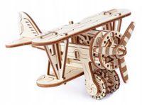 SAMOLOT Mechaniczne Puzzle 3D Drewniane Wooden City