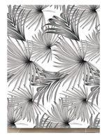 Zasłona zasłonka prysznicowa poliestrowa 180 X 180 cm wz. 8 szare beżowe liście palmy