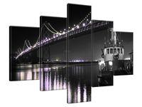 Obraz Drukowany 100x70 Barka pod Golden Gate - Tanel Teemusk  kreacja  jakiego świat nie widział