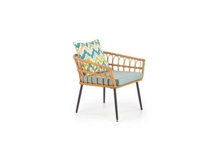 Fotel ogrodowy GARDENA rattanowy/wielobarwny