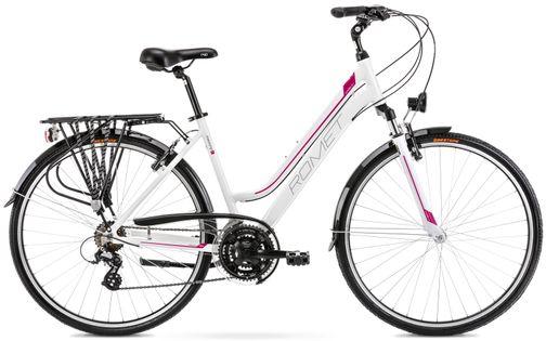 """Rower Romet Gazela 1 M(17"""") biało-różowy rower 12"""