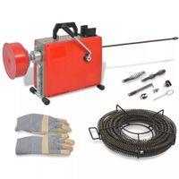 Lumarko Maszyna do czyszczenia rur, 250 W, 15 m x 16 mm 4,5 m x 9,5 mm