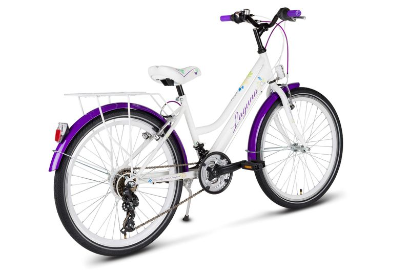 Rower 24 KANDS LAGUNA VS-2 stożek biało-fioletowy zdjęcie 9