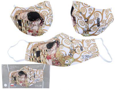 Maseczka ochronna - G. Klimt, Pocałunek (kremowe tło) (CARMANI)