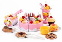 Duży tort urodzinowy do krojenia dla dzieci zestaw 75 elementów Z06