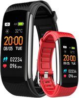 Smartband Rubicon Rnce59 Black-1 + Pasek Czerwony