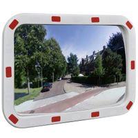 Convex lustro drogowe prostokątne 40x60cm z odblaskową ramą