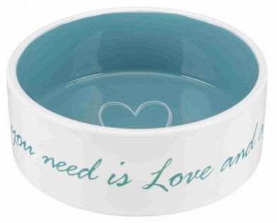 Trixie Miska Ceramiczna Pet's Home, 0.8 L/o 16 Cm, Kremowa/jasnoniebieska [Tx-25051]