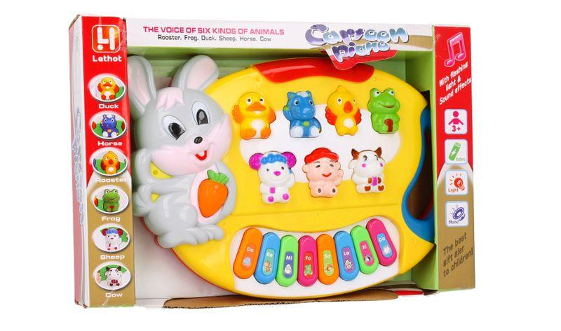 Pianino Organy dla dzieci interaktywne Królik Z349 zdjęcie 5