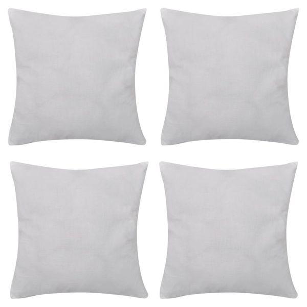 4 Białe bawełniane poszewki na poduszki 40 x 40 cm na Arena.pl