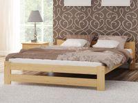 Łóżko 140x200 drewniane Inter + stelaż gięty sosna