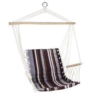Hamak fotel brazylijski 100x60cm z podłokietnikami brązowy Royokamp