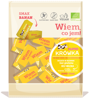 Super Krówka - Ekologiczne Krówki - Bananowe (Bezmleczne) -150G