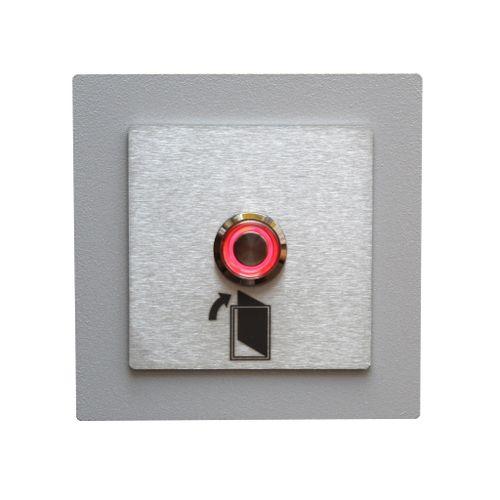 Przycisk dzwonka domofonu wyjścia wejścia furtki bramy drzwi INOX LED na Arena.pl