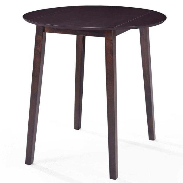 Stół Barowy I 4 Krzesła, Lite Drewno, Ciemnobrązowe zdjęcie 2