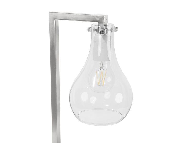 LAMPA LAMPKA BIUROWA STOŁOWA NOCNA SREBRNA zdjęcie 1