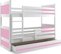 Łóżko piętrowe dziecięce RICO dla dzieci 190x80 + MATERAC + SZUFLADA