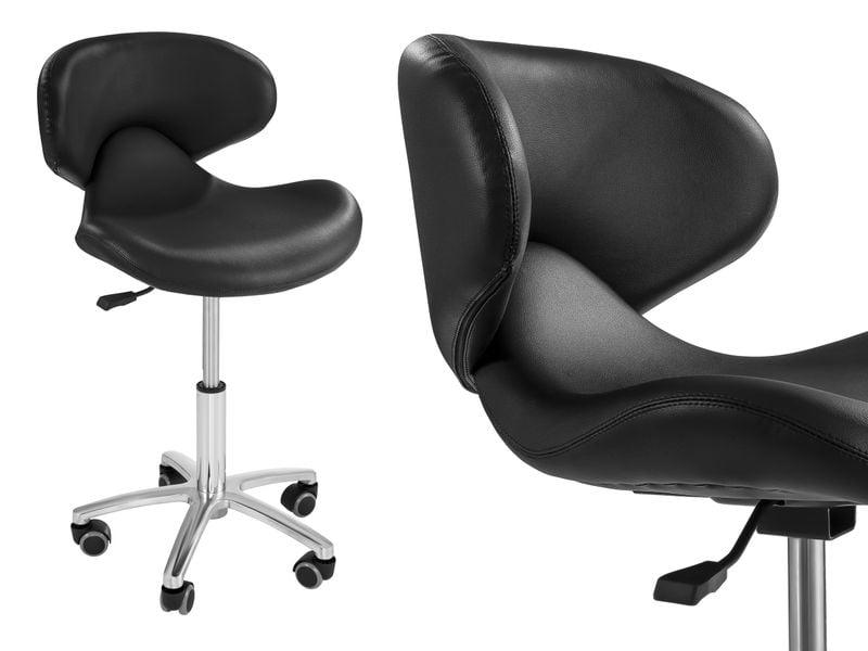 Krzesło kosmetyczne - czarne Physa Andria Black zdjęcie 1