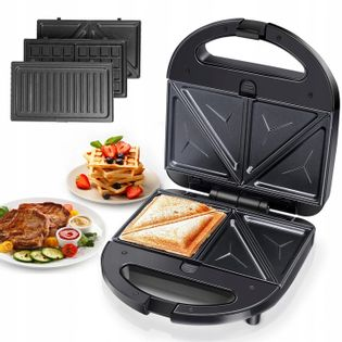 3W1 Toster Opiekacz Gofrownica Grill Sandwich 750W