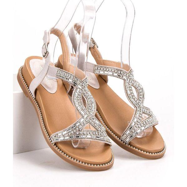 Zamszowe Sandały Z Kryształkami r.36 zdjęcie 2