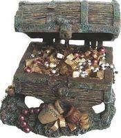 Ozdoba akwariowa Skrzynia skarbów klejnoty 12x11x9cm dekoracja do akwarium