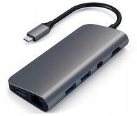 SATECHI HUB USB-C HDMI 4K USB Ethernet DisplayPort Space Gray