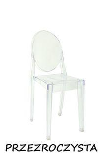 Krzesło Dankor Design Victoria przezroczysta