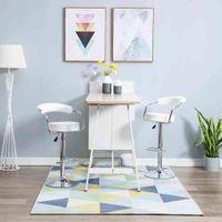 Obrotowe Krzesła Barowe, 2 Szt., Białe, Sztuczna Skóra