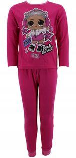 Piżama bawełniana laleczka LOL 110-116 fuksja