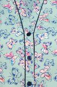 Seledynowa Koszula w Motyle - 40 / L zdjęcie 3