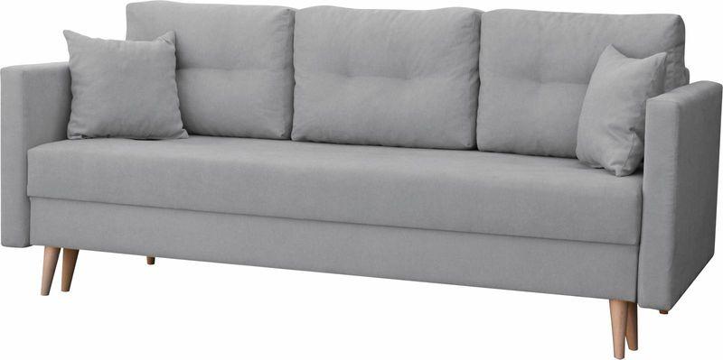 Kanapa rozkładana z funkcją spania na sprężynach, zmywalna sofa Lahti zdjęcie 3