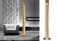 Złota lampa podłogowa Led Nevis Paul Neuhaus