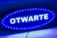 tablica OTWARTE !125 LED! szyld panel reklama open