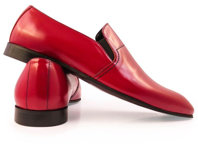 Czerwone wsuwane buty męskie F42 Rozmiar Obuwia - 40 zdjęcie 3