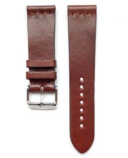 Pasek do zegarka 22mm skóra ciemno brązowy - polskie - Lamato