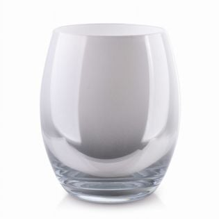 Wazon Szklany 20X16Cm Srebno-Biały Cristie Mondex Ox5095