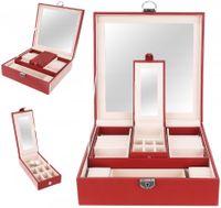 Duża Szkatułka Kuferek Kasetka Na Biżuterię Kolczyki Zamykana D230