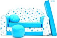 Sofa dziecięca piankowa + pufa + poduszka