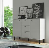 Basta komoda do salonu sypialni pokoju laminowana biała 95/120/35 cm