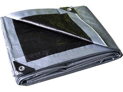 Plandeka 3x4 (srebrno-czarna), najgrubsza 260g/m2